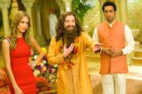Jessica Alba as Jane Bullard, Mike Myers as Guru Pitka and Manu Narayan as Rajneesh in