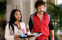 Meagan Good as Prudence and Justin Timberlake as Jacques Grande in