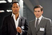 Dwayne Johnson as Agent 23 and Steve Carell as Maxwell Smart in