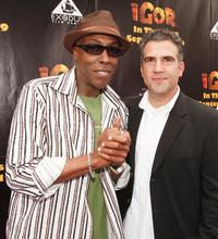 Arsenio Hall and Producer John Eraklis at the California premiere of