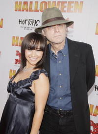 Actors Danielle Harris and Brad Dourif at the L.A. premiere of