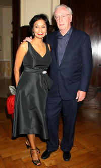 Shakira Baksh and Michael Caine at the