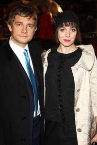 Actor Martin Freeman and guest at the London premiere of