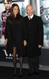 Emma Heming and Bruce Willis at the New York premiere of