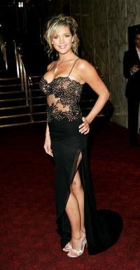 Model Danielle Lloyd at the London premiere of