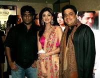 Director Anurag Basu, actress Shilpa Shetty and producer Ronnie Screwvala at the London premiere of