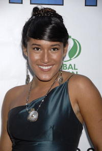 Actress Q'Orianka Kilcher at the Hollywood premiere of
