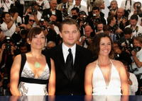 Co-director Nadia Conners, actor/writer Leonardo DiCaprio and co-director Leila Conners Petersen at a Cannes photocall for