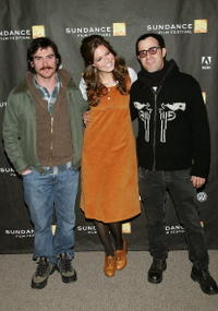 Actors Billy Crudup, Mandy Moore and director Justin Theroux at the premiere of