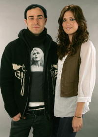 Director Justin Theroux and actress Mandy Moore in a portrait for