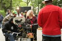 Director Patricia Rozema on the set of