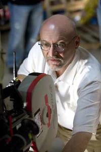 Director Frank Darabont on the set of