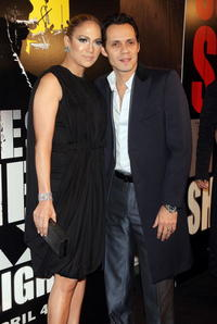 Musicians Jennifer Lopez and Marc Anthony at the N.Y. premiere of