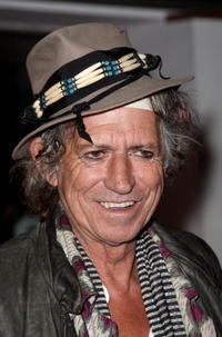 Rolling Stones member Keith Richards at the London premiere of