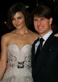 Katie Holmes and Tom Cruise at the Berlin premiere of