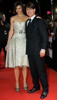 Actors Katie Holmes and Tom Cruise at the Berlin premiere of