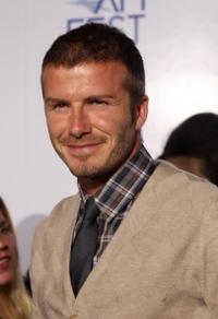 Soccer star David Beckham at the AFI premiere of