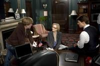 Director Robert Redford, Meryl Streep and Tom Cruise in
