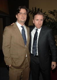 Director Roman Coppola and actor Tim Roth at the Beverly Hills premiere of