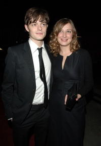 Actors Sam Riley and Alexandra Maria Lara at the Beverly Hills premiere of