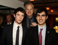 Harry Treadaway, Tim Robbins and Director Gil Kenan at the dinner of the New York premiere of
