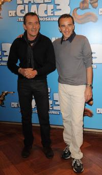 Christophe Dechavanne and Elie Seymoun at the France premiere of