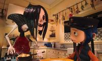 Other Mother (voiced by Teri Hatcher's) and Coraline (voiced by Dakota Fanning) in