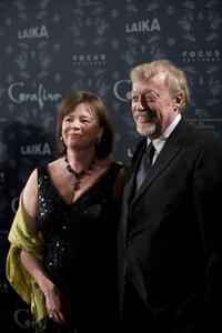 Claire Jennings and Phil Knight at the premiere of