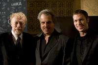 Phil Knight, Bill Mechanic and Travis Knight at the premiere of