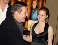 Actors Ciaran Hinds and Amy Adams at the N.Y. premiere of