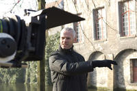 director Martin McDonagh on the set of in
