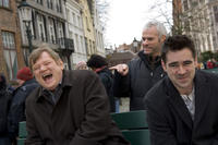 Brendan Gleeson, director Martin McDonagh and Colin Farrell on the set of in