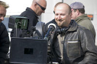 Director/writer Neil Marshall on the set of