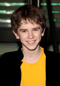 Actor Freddie Highmore at the London premiere of