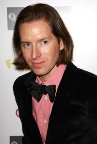 Wes Anderson at the London premiere of