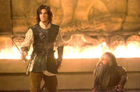 Ben Barnes and Warwick Davis in