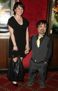Peter Dinklage and his wife at the New York premiere of