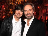Thomas Newman and Director Sam Mendes at the after party of the California premiere of