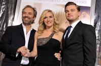 Director Sam Mendes, Kate Winslet and Leonardo DiCaprio at the California premiere of