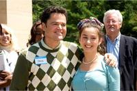 Donny Osmond and Margo Harshman in