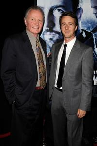 Jon Voight and Edward Norton at the New York premiere of