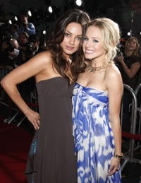 Actresses Mila Kunis and Kristen Bell at the Hollywood premiere of