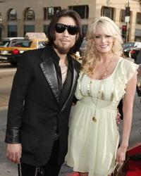 Musician Dave Navarro and actress Stormy Daniels at the Hollywood premiere of
