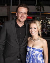Actors Jason Segel and Kristen Bell at the Hollywood premiere of