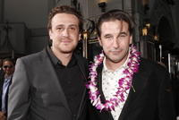 Actors Jason Segel and William Baldwin at the Hollywood premiere of