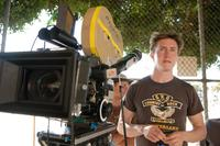 Director David Gordon Green on the set of