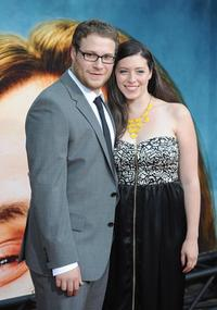 Seth Rogen and Lauren Miller at the California premiere of