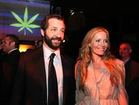 Producer Judd Apatow and Leslie Mann at the after party of the California premiere of