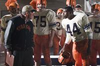 Rob Brown as Ernie Davis and Dennis Quaid as Ben Schwartzwalder in