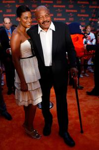 Jim Brown and his Wife at the New York premiere of
